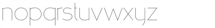 MB NOIR Thin Font LOWERCASE