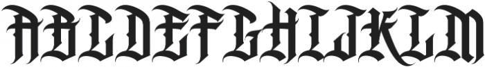 MCF Black Fox ttf (900) Font UPPERCASE