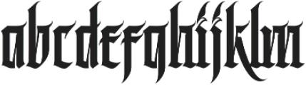 MCF Black Fox ttf (900) Font LOWERCASE