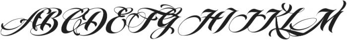 MCF Brather Script ttf (400) Font UPPERCASE