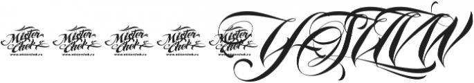 MCF Iraida Script ttf (400) Font OTHER CHARS