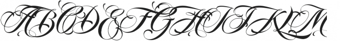 MCF Iraida Script ttf (400) Font UPPERCASE