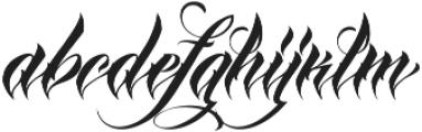 MCF Iraida Script ttf (400) Font LOWERCASE