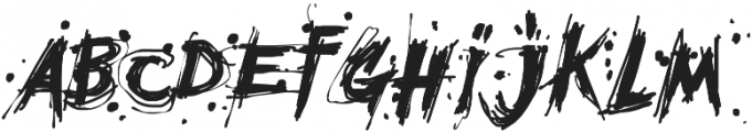 MCF Mudster Regular ttf (400) Font LOWERCASE
