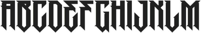 MCF Pobeda Regular otf (400) Font UPPERCASE