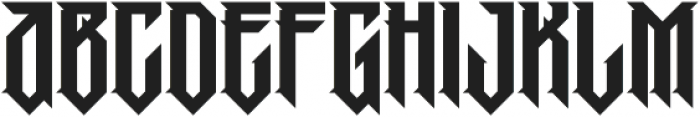 MCF Pobeda Regular otf (400) Font LOWERCASE