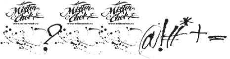 MCF Revolution ink ttf (400) Font OTHER CHARS