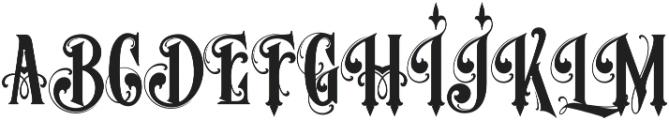 MCF Stone Head ttf (400) Font UPPERCASE