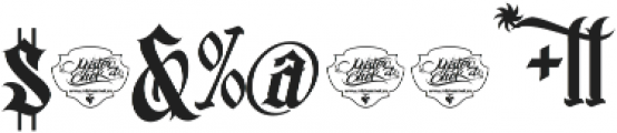 MCF bad manners ttf (400) Font OTHER CHARS