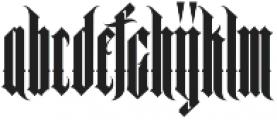 MCF black queen ttf (900) Font UPPERCASE