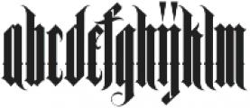 MCF black queen ttf (900) Font LOWERCASE