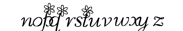 MC Blossoms Font LOWERCASE