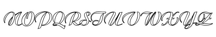 MC Valentine Plush Font UPPERCASE