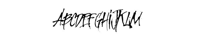 MCF Revolution ink Font UPPERCASE