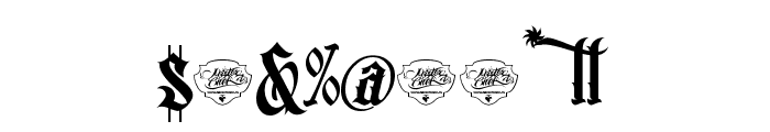 MCF bad manners wild west Font OTHER CHARS
