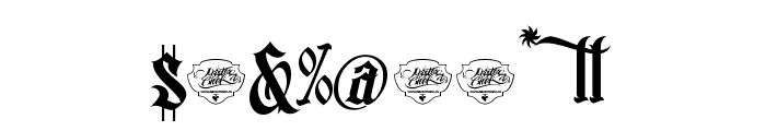 MCF bad manners Font OTHER CHARS