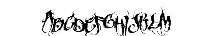 MCF funera flourish Font LOWERCASE