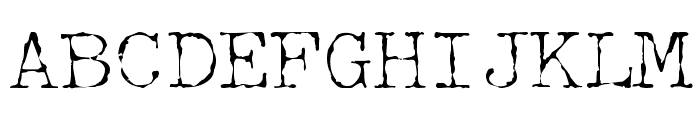 McGarey Regular Font UPPERCASE