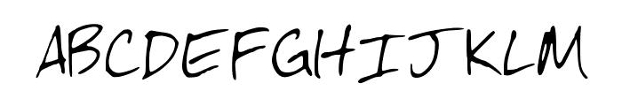 McHandwriting Font UPPERCASE