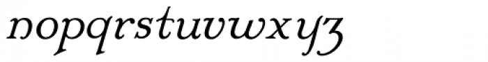 Mc Kenna Handletter NF Italic Font LOWERCASE