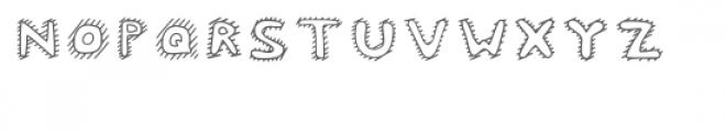 Mc Cool Inner Stripes Font UPPERCASE