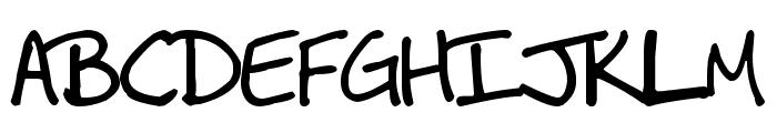 MDBurnette Font UPPERCASE