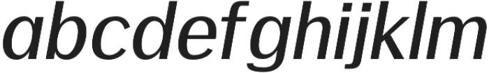 Meadow Bold italic otf (700) Font LOWERCASE
