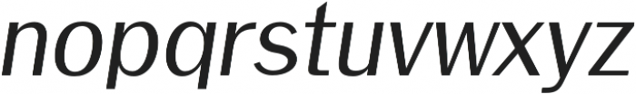 Meadow Semi bold italic otf (600) Font LOWERCASE
