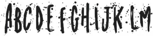 Meandyousplatter Splatter otf (400) Font LOWERCASE