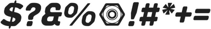 Meccanica Lite Bold Oblique otf (700) Font OTHER CHARS