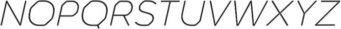Meccanica Lite ExtraLight Oblique otf (200) Font UPPERCASE