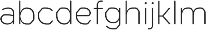Meccanica Lite ExtraLight otf (200) Font LOWERCASE