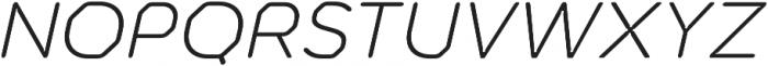 Meccanica Lite Light Oblique otf (300) Font UPPERCASE