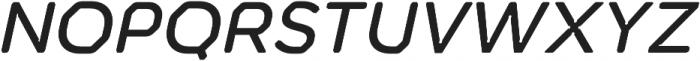 Meccanica Lite Medium Oblique otf (500) Font UPPERCASE
