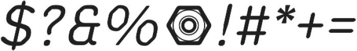 Meccanica Lite Oblique otf (400) Font OTHER CHARS