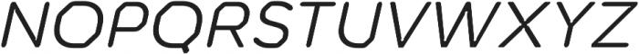 Meccanica Lite Oblique otf (400) Font UPPERCASE