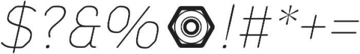 Meccanica Lite Thin Oblique otf (100) Font OTHER CHARS