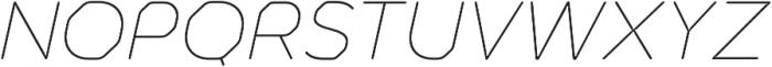 Meccanica Lite Thin Oblique otf (100) Font UPPERCASE