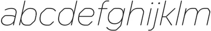 Meccanica Lite Thin Oblique otf (100) Font LOWERCASE
