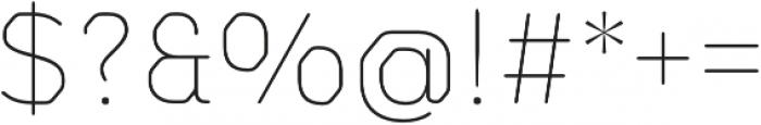 Meccanica Lite Thin otf (100) Font OTHER CHARS