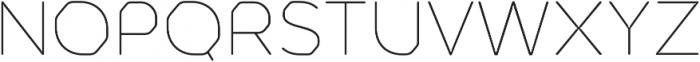 Meccanica Lite Thin otf (100) Font UPPERCASE