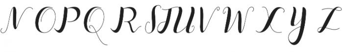 Median script Regular otf (400) Font UPPERCASE