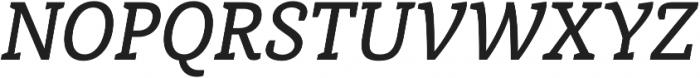 Medium Italic otf (500) Font UPPERCASE