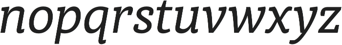 Medium Italic otf (500) Font LOWERCASE