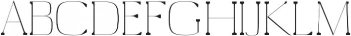 Medric Thin otf (100) Font UPPERCASE