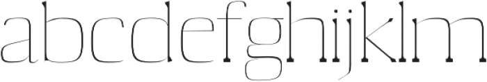 Medric Thin otf (100) Font LOWERCASE