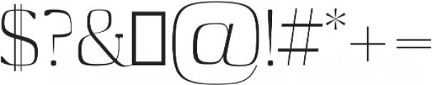 Medric otf (400) Font OTHER CHARS