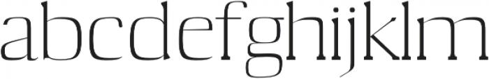 Medric otf (400) Font LOWERCASE