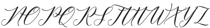 Meetha Script Regular otf (400) Font UPPERCASE