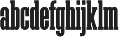 Megalito Slab Extra Condensed otf (400) Font LOWERCASE